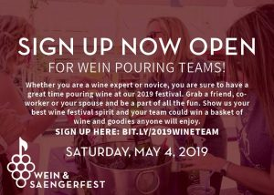 Sign up now for 2019 Wein Pouring Teams - New Braunfels Parks Foundation